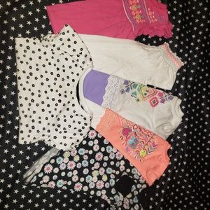 Bundle Of 6 Toddler Girls Tshirts